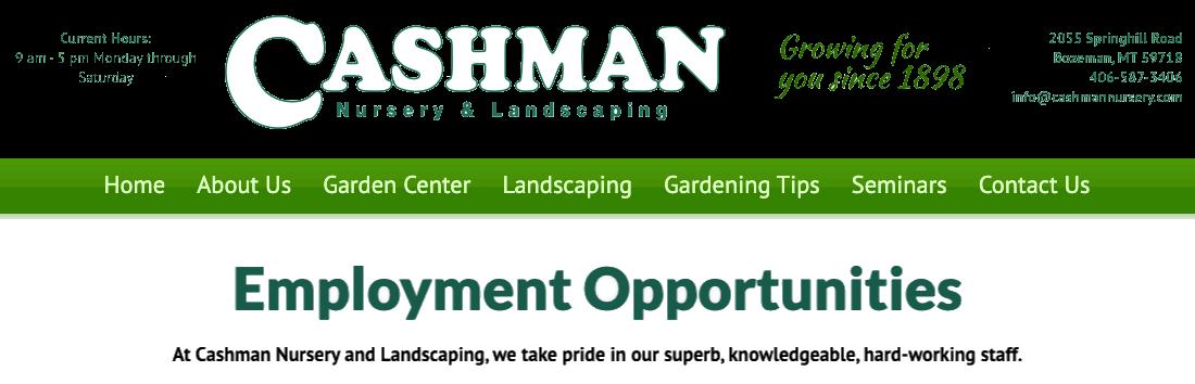 Cashman Nursery